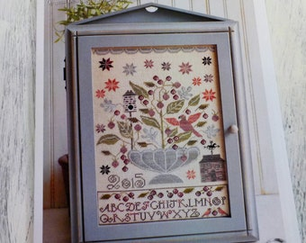 Blackberry House by Plum Street Samplers...cross stitch pattern, house cross stitch