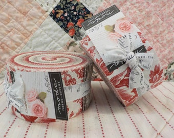 Cranberries & Cream jelly roll by 3 Sisters for Moda Fabrics...42--2 1/2 inch strips