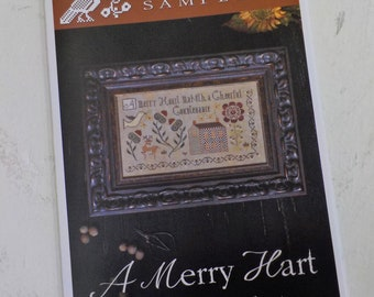 A Merry Hart by Plum Street Samplers...cross stitch pattern, house cross stitch