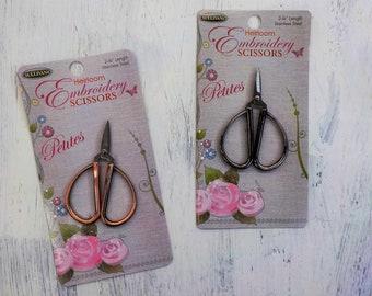Heirloom Embroidery Scissors...petites...embroidery scissors, 3 colors