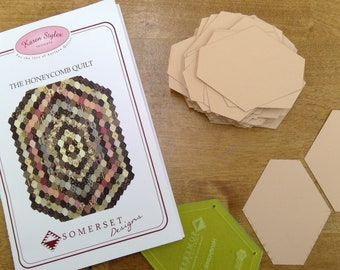 The Honeycomb Quilt by Karen Styles of Somerset Designs...pattern and acrylic templates