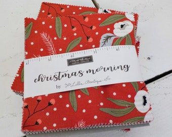 Christmas Morning charm pack by Lella Boutique for Moda Fabrics