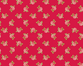 Sweet Beginning red small floral MAS10013-R by Jera Brandvig of Quilting in the Rain for Maywood Studios