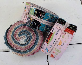 Chick-A-Doodle Doo strip roll by Poppie Cotton...42--2 1/2 inch strips