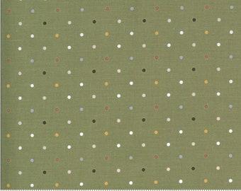 Folktale Magic Dot Olive 5124 15 by Lella Boutique for Moda Fabrics