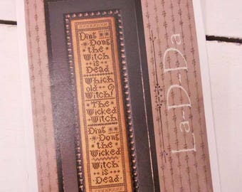 Wicked Witch by La-D-Da...cross stitch pattern