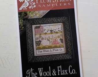 The Wool and Flax Co. by Plum Street Samplers...cross stitch pattern, spring cross stitch