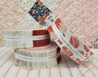 Cranberries & Cream honey bun by 3 Sisters for Moda Fabrics...42--1 1/2 inch strips