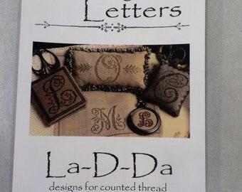 Lovely Letters by La-D-Da...cross stitch pattern