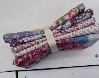 Woodland and Sophie Basics lilac and lavender fat quarter bundle...a Tilda Collection designed by Tone Finnanger...5 fat quarters