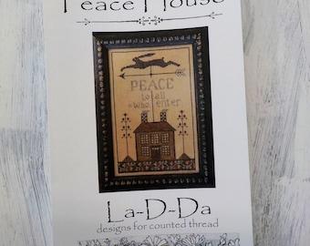 Peace House by La-D-Da...cross stitch pattern, cross stitch