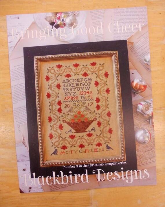 Bringing Good Cheer Christmas Sampler #3 Blackbird Designs Cross Stitch Pattern