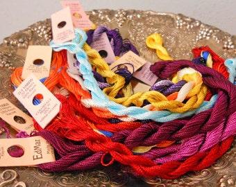 Mardi Gras Thread Pack of 10 skeins of Edmar Thread.