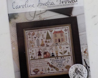 Caroline Amelia Trowell by Brenda Gervais of With Thy Needle & Thread...cross-stitch design, house cross stitch, spring cross stitch
