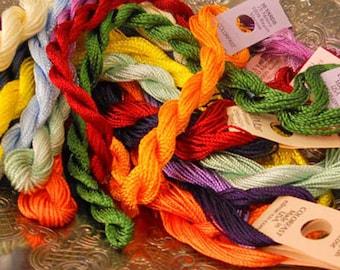 Rainbow Thread Pack of 10 skeins of Edmar Thread.