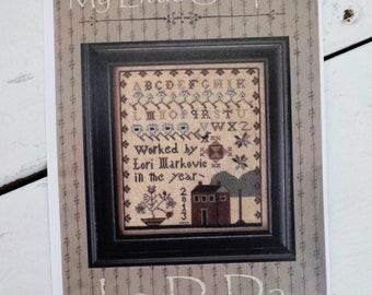 My Little Sampler by La-D-Da...cross stitch pattern, house cross stitch, sampler cross stitch