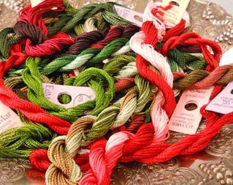 Victorian Christmas Thread Pack of 10 skeins of Edmar Thread.
