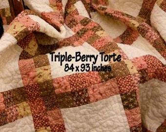 PDF Triple Berry Torte pattern designed by Mickey Zimmer for Sweetwater Cotton Shoppe