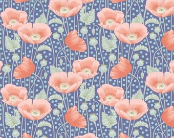 Gardenlife Poppies Blue..a Tilda Collection designed by Tone Finnanger