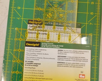 Omnigrid Quilting Travel kit...includes 3 rulers and a cutting mat
