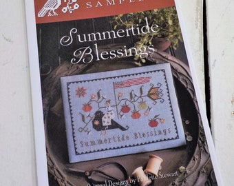 Summertide Blessings by Plum Street Samplers...cross stitch pattern, 4th of july, patriotic cross stitch, americana, independance day