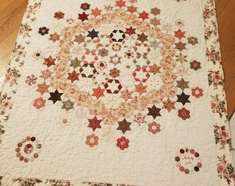 Ring of Roses by Susan Ambrose for Somerset Designs...quilt kit including pattern, acrylics, and complete paper piece pack