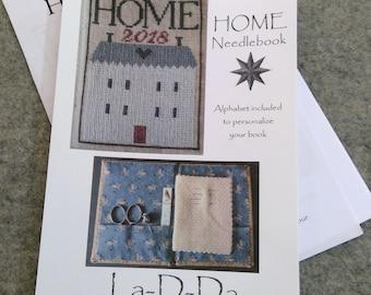 HOME Needlebook by La-D-Da...cross stitch pattern