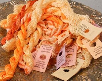 Peaches and Cream Thread Pack of 10 skeins of Edmar Thread.