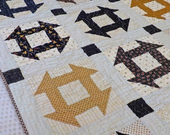 Backroads quilt kit...designed and stitched by Mickey Zimmer