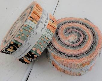 Kitty Corn jelly roll by Urban Chiks for Moda Fabrics, 40--2 1/2 inch strips