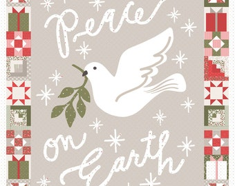 Christmas Morning Peace on Earth dove panel by Lella Boutique for Moda Fabrics
