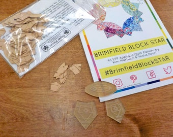 Bitty Brimfield Star...pattern, acrylic templates, and paper pieces