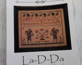 A Two Rabbit Sampler by La-D-Da...cross stitch pattern