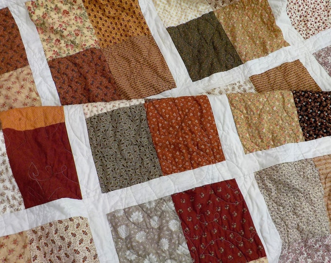 Featured listing image: Beachy in Autumn quilt kit...designed by Mickey Zimmer for Sweetwater Cotton Shoppe