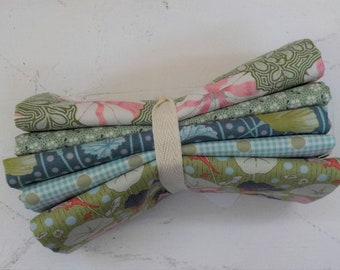 Gardenlife, Meadow Basics and Happy Camper Green and Sage fat quarter bundle...a Tilda Collection designed by Tone Finnanger, 5 fat quarters