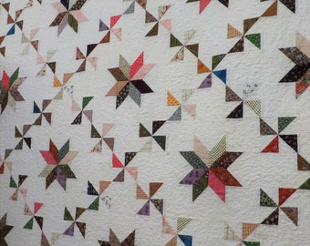 PDF Sassafrass pattern designed by Mickey Zimmer for Sweetwater Cotton Shoppe, scrappy quilt, stash quilt