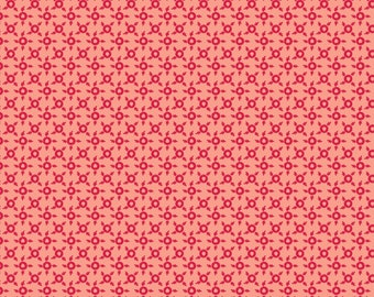 Sweet Beginning pink red ditsy geometric MAS10016-P by Jera Brandvig of Quilting in the Rain for Maywood Studios