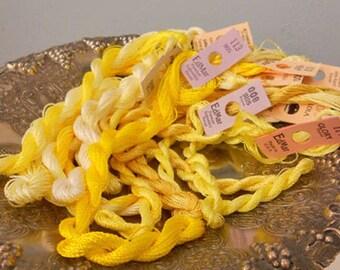 Lemon Drops Thread Pack of 10 skeins of Edmar Thread.