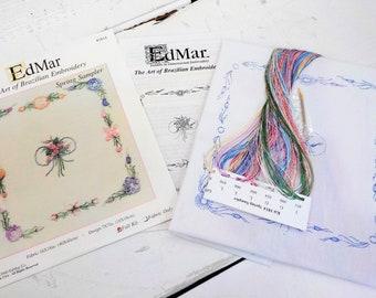 Spring Sampler...EdMar 1814 project...Brazilian embroidery kit...diy embroidery kit