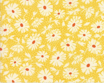 Hop, Skip, and a Jump!, 21703-13 yellow daisies, by American Jane for moda fabrics
