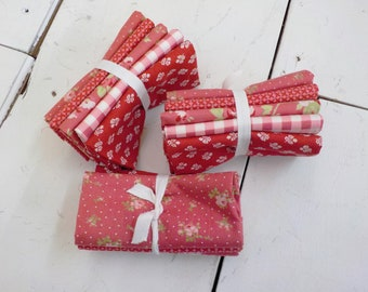Sophie Rosey Red 5 fat quarter bundle...by Brenda Riddle for Moda Fabrics