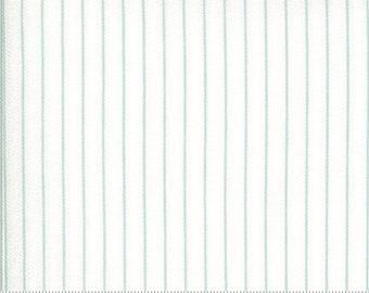 Dover Ticking Stripe Sea Glass 18705 14 by Brenda Riddle for Moda Fabrics