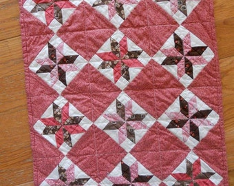 Cinnamon Swirl, a Patchwork from the Prairie, designed by Mickey Zimmer for Sweetwater Cotton Shoppe