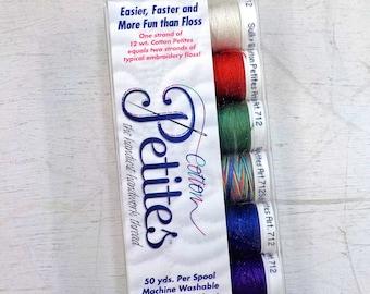 Winter Cotton Petites, the handiest handwork thread, Sulky thread, 6 colors, 12 wt thread