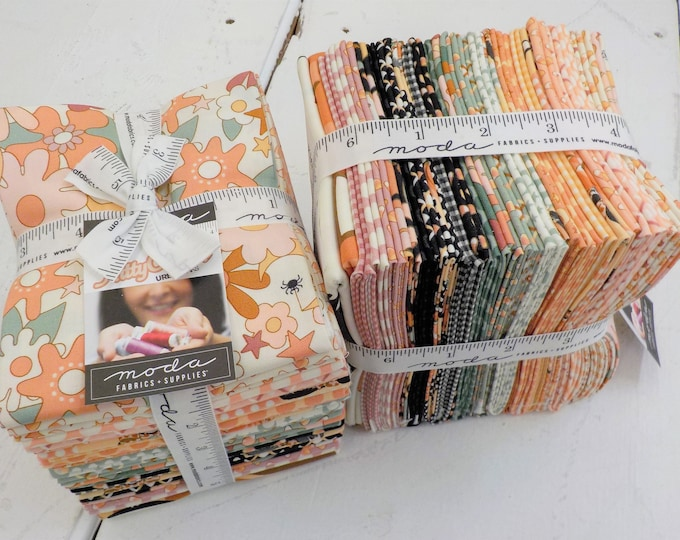 Featured listing image: Kitty Corn fat quarter bundle by Urban Chiks for Moda Fabrics, 25 fat quarters and panel