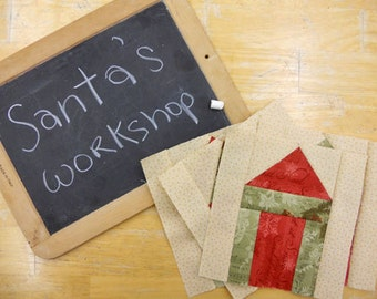 Week 4 Santa's Workshop..Christmas Morning Quilt Along...PDF block pattern