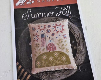 Summer Hill by Plum Street Samplers...cross stitch pattern, summer, 4th of july, patriotic cross stitch, americana, independance day