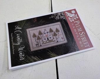 A Country Winter by Plum Street Samplers...cross stitch pattern, Christmas cross stitch, winter cross stitch