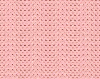 Chick-A-Doodle Doo pink chicken spots CD21704 by Poppie Cotton