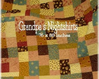 PDF Grandpa's Nightshirts pattern using Fig Tree by April Zimmer for Sweetwater Cotton Shoppe